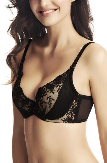 大胸v型性感聚拢型刺绣胸罩-ami003246