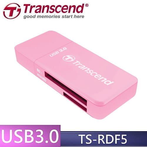 【免運費+贈SD記憶卡收納盒】創見 F5 TS-RDF5R USB3.0 多功能讀卡機(粉紅)X1◆最大支援 UHS-1 128GB◆