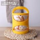 梔子花開 多層手提便攜陶瓷飯盒微波爐保鮮泡面碗便當盒密封筷勺 一米陽光