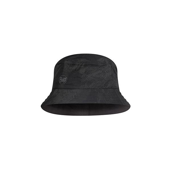 Buff 西班牙魔術頭巾 Trek Bucket 可收納漁夫帽 黑色墨花