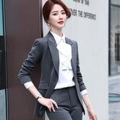 直紋流行劍形弧形領個性西裝外套[20X285-PF]小三衣藏