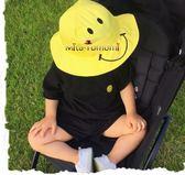 兒童春夏季寶寶遮陽帽嬰兒帽子潮男女童防曬帽漁夫帽盆帽太陽帽 美芭