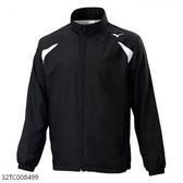 MIZUNO 男裝 外套 立領 慢跑 休閒 套裝 防潑水 口袋拉鍊 黑 白【運動世界】32TC008499