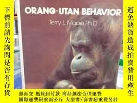二手書博民逛書店猩猩的行爲(靈長類研究)罕見Orang-utan behavio