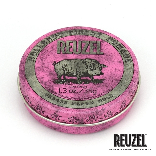 REUZEL Pink Pomade Grease 粉紅豬超強髮油 35g