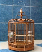 老料鳥籠貴州款凱里籠竹制畫眉鳥籠八哥鳥籠鏤空鳥籠配件鳥籠 居享優品