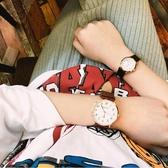 正韓復古簡約潮流石英錶腕表休閒百搭圓盤男女情侶錶學生皮帶手錶【快速出貨】