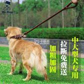 狗項圈 中型犬大型犬 寵物牽引繩項圈套裝 牽引帶金毛薩摩耶狗繩子狗鍊子 卡菲婭