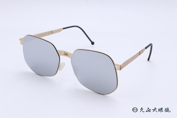 ROAV 偏光太陽眼鏡 Raymond - Mod.NY001 ( 金框/白水銀 ) 薄鋼折疊墨鏡