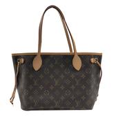 【台中米蘭站】全新展示品 Louis Vuitton Monogram Neverfull 肩背包-PM(M40155-咖)