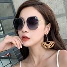 2021年新款ins墨鏡女太陽眼鏡GM韓版潮防紫外線大臉顯瘦時尚
