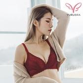 【Yurubra】花海中的你內衣。B.C罩 不易滑肩 美背 提托 服貼 機能 台灣製 ※0626紅