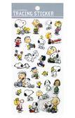 ~卡漫城~Snoopy 描圖紙貼紙朋友㊣版手繪史努比史奴比糊塗塔克查理裝飾貼莎莉花生漫畫