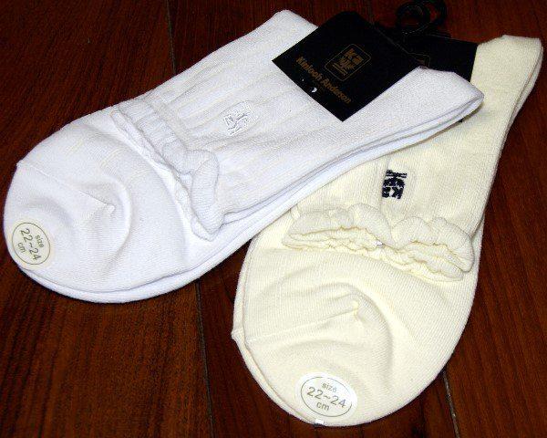 金˙安德森 Kinloch Anderson╭*皺摺滾邊˙1/2細針寬板條紋短淑女襪