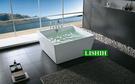 【麗室衛浴】BATHTUB WORLD  YG3332 正方形獨立造型缸 1200*1200*580mm