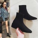 靴子女短靴2020冬季新款高跟粗跟ins馬丁靴女短筒網紅瘦瘦靴棉鞋 小山好物