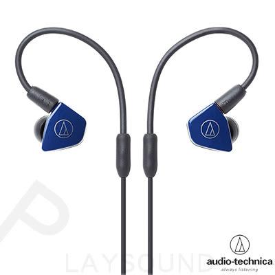 鐵三角 ATH-LS50 深藍色 可拆式導線 雙動圈 耳道式耳機