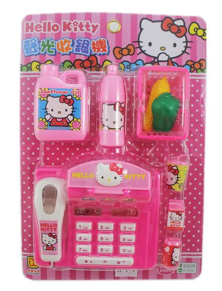 【卡漫城】 Hello Kitty 扮家家酒 聲光收銀機 ㊣版 遊戲組 會發出聲音 ST兒童安全玩具 收銀台 便利