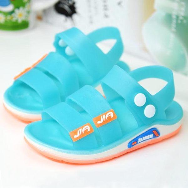 優惠兩天-兒童涼鞋運動果凍塑膠嬰兒寶寶防滑男童女童沙灘鞋潮【限時八八折】