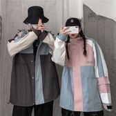 不一樣的情侶工裝外套男秋冬季連帽夾克韓版潮流同色系ins上衣服 晟鵬國際貿易