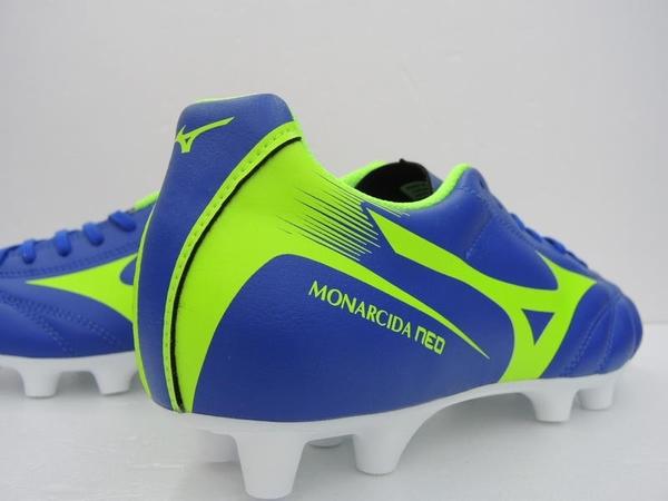 MIZUNO 美津濃 MONARCIDA NEO MD (藍綠) 男足球鞋  大釘 P1GA182437  【胖媛的店】