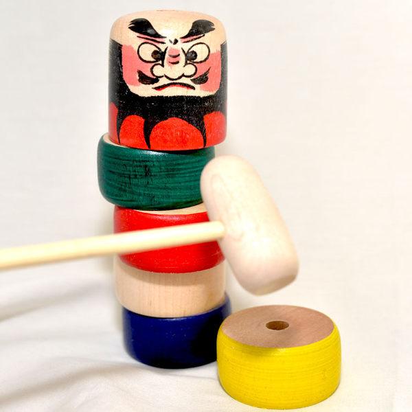 敲敲 達摩 木槌童玩 日本製 木質 當擺飾也很讚!