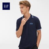 Gap男裝 Logo雅致風格短袖Polo衫 440725-海軍藍