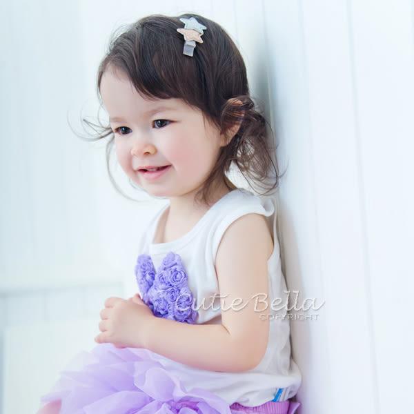 Cutie Bella無袖上衣/背心Bow-Lilac