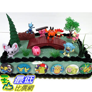 [美國直購] 神奇寶貝 精靈寶可夢周邊 Pokemon B01A8R3DEE 18 Piece Birthday Cake Topper Set Featuring Pokemon