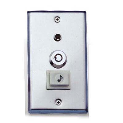 Garrison防盜器材 批發中心 LK-305C  不鏽鋼蓋板  附電鈴開關居家廠辦.門禁保全 控制電鎖