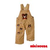 MIKI HOUSE 普奇熊刺繡款吊帶長褲