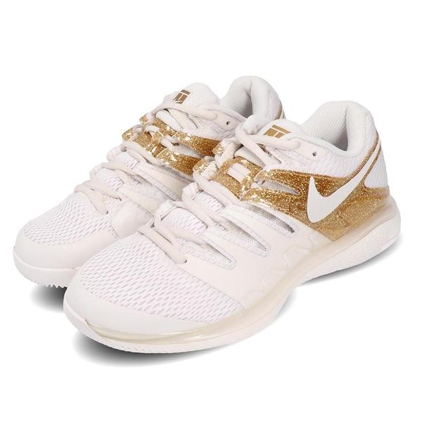 Nike 網球鞋 Wmns Air Zoom Vapor X HC 白 金 女鞋 莎拉波娃 運動鞋 【ACS】 AA8027-007