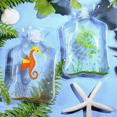 ✭米菈生活館✭【P519】卡通迷你加厚PVC熱水袋 便攜 可注水 暖水袋 外出 戶外 禦寒