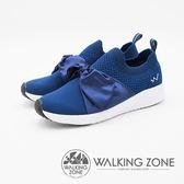 WALKING ZONE Daymark天痕戶外W系列 (夢幻緞帶蝴蝶結) 飛線編織 女鞋-深藍(另有黑、粉、淺藍)