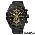 SEIKO/精工 V176-0AS0SD (SSC541P1) 太陽能 防水 三眼 計時 男錶/黑金/42mm