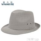 紳士帽夏季男士帽子中老年人帽子老人帽亞麻透氣戶外禮帽遮陽帽爵士涼帽 智慧e家