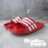 ADIDAS DURAMO SLIDE 紅白條 防水 海灘 拖鞋 男女 (布魯克林) 2018/12月 G15886
