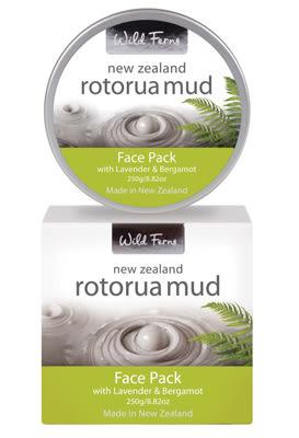 羅托魯瓦火山泥淨化活膚面膜250g (添加薰衣草和佛手柑) 夜間舒緩 - 大容量 Wild Ferns