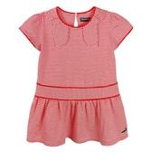 『小鱷魚童裝』領結裝飾細橫條洋裝(01號~08號)535380