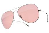 RayBan太陽眼鏡RB3025 0034R (銀-粉紫鏡片) 王嘉爾聯名x全球熱銷經典飛行款 # 金橘眼鏡