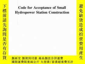 全新書博民逛書店SL168-2012Code for Acceptance of Small Hydropower Station