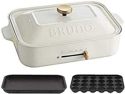 【BRUNO】多功能鑄鐵電烤盤-白色
