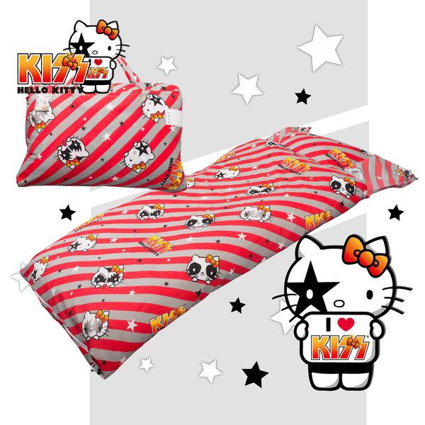 Hello Kitty 線條 兒童睡袋 標準 台灣製 超取限一顆