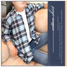 【大盤大】(S80323) 100%純棉 格紋 法蘭絨襯衫 口袋薄外套 男 長袖格子T 內刷毛【2XL號斷貨】