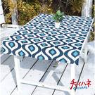 AMINA COLLECTION 日本 靛藍風格布料/桌巾『波浪』ISAP7262 可搭配摺收桌 摺疊桌 折合桌 鋁合金輕巧桌