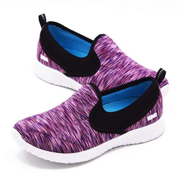 W&M MODARE 飛線條紋舒適瑜珈鞋墊女鞋-紫(另有黑)