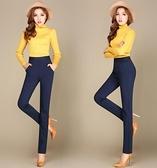 新款女式直筒褲子女垂感顯瘦中年高腰女褲長褲休閒褲彈力