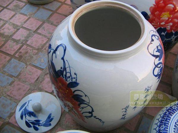 【50斤】景德鎮陶瓷 手繪米缸