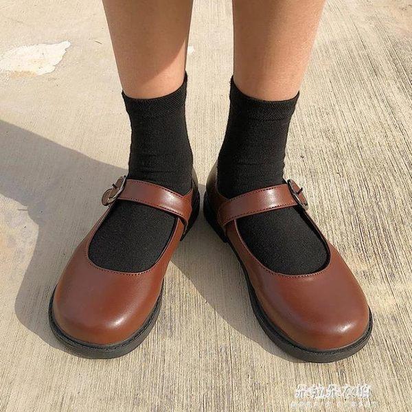 娃娃鞋 春季新款圓頭娃娃鞋女韓版復古平底休閒單鞋學生小皮鞋女鞋潮  朵拉朵衣櫥