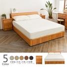 【時尚屋】[WG28]納特床箱型4件房間組-床箱+床底+床頭櫃2個+床墊/五色可選/免運費/免組裝